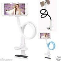 360° Flexible Long Arms Cell Phone Clip Holder Stand with Sitck-On Car Mount