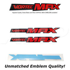 Fits (Pairs) Silverado Vortec Max High Output Emblems Badges Decals Black n Red