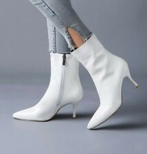 Ankle Boots Stilettos Heels Zipper Women's Shoes Pointy Toe Clubwear 34-47 BB