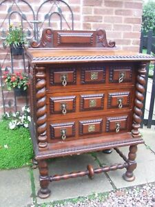 French mahogany chest of 3 drawers
