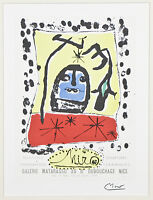 """Galerie Matarasso"" by Joan Miro Signed Lithograph 10""x7 1/2"""