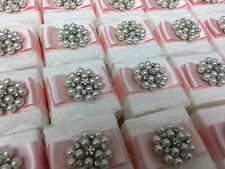 Wedding Favour Boxes Decorated Ready For Filling Vintage Lace And Pearl Design