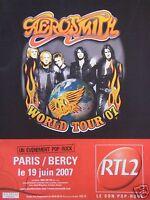 PUBLICITÉ RTL 2 AVEC AÉROSMITH WORLD TOUR 07 PARIS-BERCY