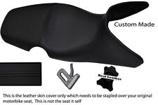 BLACK CUSTOM 01-07 FITS BMW F 650 GS REAL DUAL LEATHER SEAT COVER