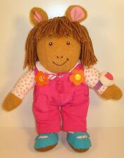 "1996 DW D.W. 15"" Plush Stuffed Figure Arthur (her watch plays fair a jacque)"