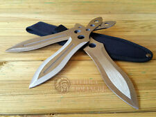 3 Cuchillos Deportivos Acero Inox  Knife Messer Coltello Couteau