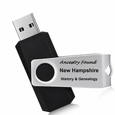 165 old books NEW HAMPSHIRE history & genealogy NH -on FLASH DRIVE USB ancestors
