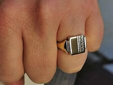 Vintage Solid Gold Signet Ring, Mens Jewellery,hallmarked Birmingham c1960 #Mf