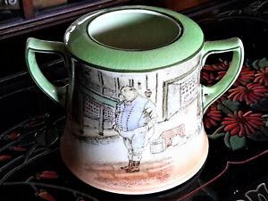 REDUCED! Antique Doulton Dickens Ware 'Fat Boy' Corinth D2973 Sugar Bowl 1908-31