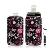 Housse coque étui pochette pour HTC Wildfire G8 avec motif + Stylet mini
