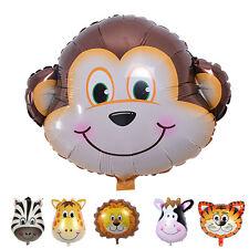 Lindo tamaño grande animales cabeza globos helio foil globos tema partido
