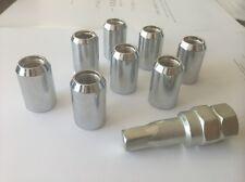 20 TUNER WHEEL LOCK LUG NUTS 8 POINT KEY 12X1.25 12 1.25 ACORN OPEN END CHROME N