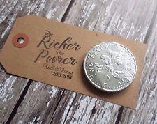 Wedding Favours Personalised stamp for richer for poorer, custom Wedding stamp