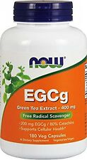 NOW Foods EGCg, Green Tea Extract, 400mg, 180 Vcaps, New, Free Shipping