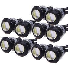 10pcs 18mm 9W COB weißes LED Eagle Augen Nebel Licht DRL umgekehrte Drehsignal