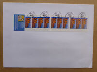 2001 PANORAMA 10 STAMP BOOKLET CANBERRA MAP P/M LARGE FDC