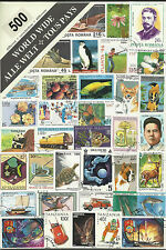 Collection Packet of 500 Different WORLD Stamps Postmarked Used Condition