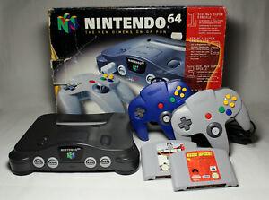 NINTENDO 64 Konsole + 2 Original Controller + OVP + 2 Spiele