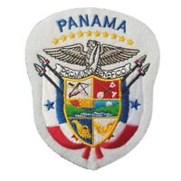 Panama Coat of Arms Iron On Patch Sew on Transfer Panama Country Flag Large -