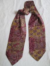 - AUTHENTIQUE écharpe plissée IVO soie  TBEG  vintage Scarf