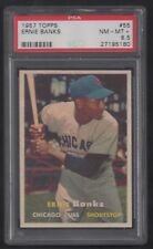 1957 TOPPS BASEBALL SET BREAK #55 ERNIE BANKS PSA 8.5 NM-MT+ HOF HALL OF FAME
