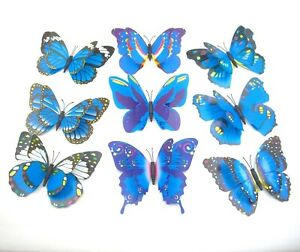 """14 Pcs 4.7"""",Clip On Dual Wing Butterfly,Garden Plant Tree Ornament,Wedding decor"""