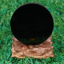 "4"" Black Obsidian Scrying Mirror Crystal 100mm Seconds Gemstone Mineral US SHIP"