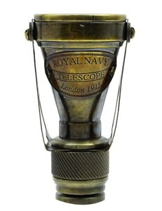 Nautical Binocular Monocular Antique Gold Brass Pirate Solid Spyglass Relica