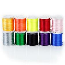 10 Color x 6.5yds Rattail Satin Nylon Cord Chinese Knot Braided Bead Thread 1mm