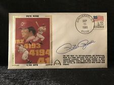 Pete Rose Reds 4193Signed First Day Cover 1985 Baseball Envelope Cachet