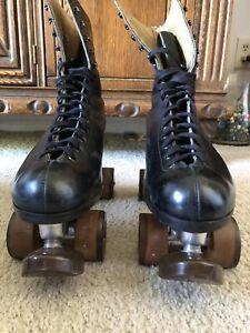 Vintage Snyder Imperial roller skates - Men's Size 10 - Black