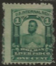 RS 126d--HOLMAN LIVER PAD 1 CENT  MATCH AND MEDICINE STAMP--74