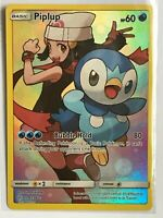 Piplup SECRET FULL ART ULTRA RARE 239/236 SM Cosmic Eclipse Pokemon HOLO NM