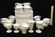 Milk Glass Harvest Grape Snack Hospitality 48 Pc 22 Trays & Cups Indiana Colony