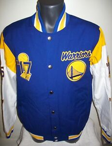 GOLDEN STATE WARRIORS  5 Time NBA FINALS CHAMPIONSHIP Jacket Sewn Logos 3X 4X 5X