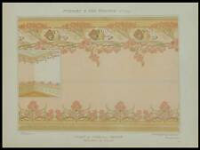 MULIER, SALLE DE JEUX POUR CASINO -1900- LITHOGRAPHIE, ART NOUVEAU, GLAIEULS