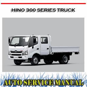 HINO 300 SERIES TRUCK BODY & CHASIS WORKSHOP SERVICE REPAIR MANUAL ~ DVD