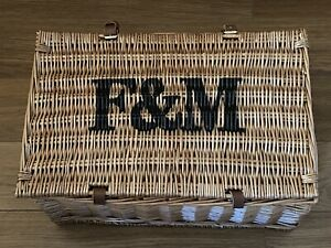 Fortum and Mason Hamper F&M Wicker Basket New Without Contents