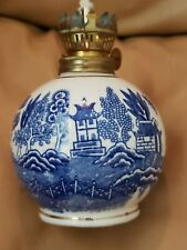 Vintage Chadwick Blue Willow Oil Lamp Base - Japan