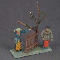 """Grulicher Krippenfigur, """"2 Frauen"""" - Holz geschnitzt, 7,5 cm (# 10501)"""