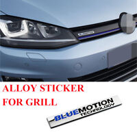 Bluemotion Technology Alloy Labels Emblem Front Grill Badge Sticker For VW GOLF