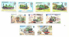 Railways-Trains of Jersey 2 sets complete mnh-1973 & 1985-Steam Trains