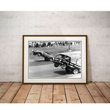 Wheelstand Battle Poster - Hurst Hemi Under Glass VS Little Red Wagon