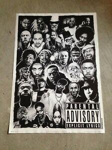 Rap Legends 25.5x35.5 Collage Biggie, TuPac, Dr Dre Jay-Z Ice-T Eminem Dogg