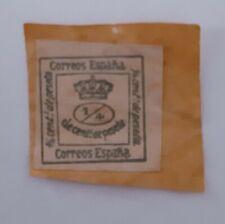 ESPAÑA sello 1/4 de peseta correos españa pegado