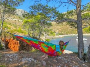 Fathers Day Gift ENO Doublenest Tie-Dye 2 Person Light Nylon Hammock Camp Hike