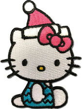 HELLO KITTY - HELLO KITTY 10 PATCH with pink santa hat sitting