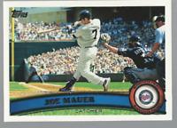 2011 Topps Minnesota Twins Baseball Card #550 Joe Mauer