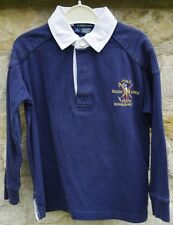 Ralph Lauren Boys Long Sleeve Rugby Top No 8 on Back Sleeve Age 4 (Size 5)