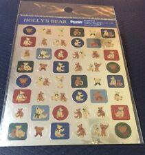 Vintage Sanrio Holly's Bear Foil Stickers (1997)